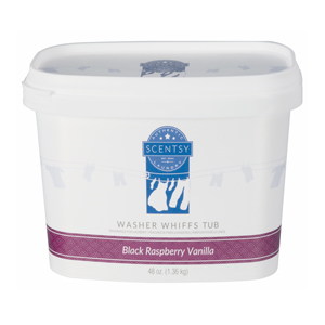 black raspberry vanilla scentsy washer whiffs tub